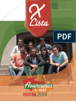 Programa Avancemos X más, LISTA X FEUTFSM 2014