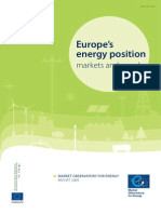 Europe's energy position, markets and supply