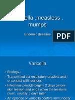 Varicella ,Measless , Mumps