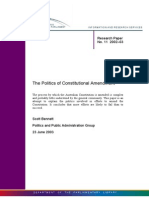 The Politics of Constitutional Amendment.