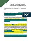 Apuntes para el diseño del resumen ejecutivo de investigación para posgrado