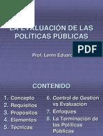 LA EVALUACIÓN DE LAS POLÍTICAS PÚBLICAS