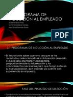 3.1 Programa de Inducción al empleado