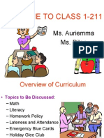 Parent-Teacher Curriculum Presentation