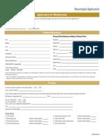 Application for Membership AAN