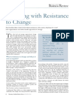 Engaging with Resistance to Change