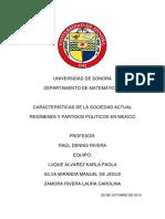 REGÍMENES Y PARTIDOS POLITICOS EN MEXICO