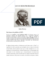 DEWEY, John (1927) O público e seus problemas. Excertos - Em busca do público