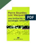 91465635 Una Invitacion a La Sociologia Reflexiva