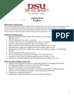 secondary resume