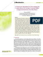 J8-A Numerical Algorithm for Determining the Contact Stress of Circular Crowned Roller Compressed Between Two Flat Plates