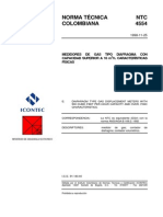 Ntc4554 Medidores de Gas Tipo Diafragma Capacidad Superior a 16m3 h