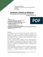 Alvarez,N.C.- Juventud y Politica en Misiones