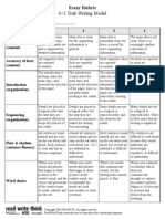 6 traits grading rubric