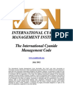 The International Cyanide Management Code
