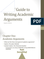 a brief guide to writing academic arguments pp