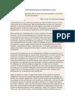 Derecho y Globalizacion