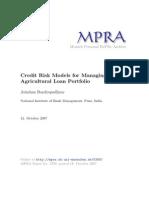 MPRA Paper 5358