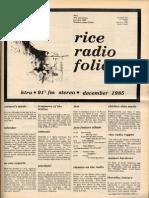 1985 Dec Folio KTRU FM