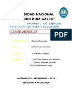 Sesion de Aprendizaje (Estados de La Materia)