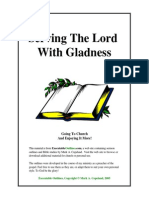 Serving the Lord With Gladness