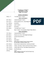 2009 Fall Conference 3 Day Agenda