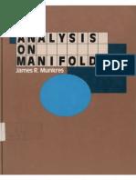 MunkresJR Analysis on Manifolds