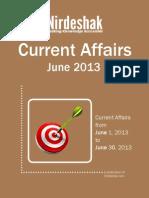 Current Affairs PDF June 2013 En