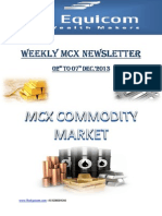 Weekly MCX Newsletter By Theequicom