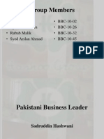 A great Enterpenurer of Pakistan