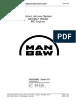 Alpha Lubricator System Operation Manual MC Engines