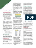 Excel Macros and Vb a Tip Card