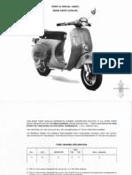 Sparepart catalog Vespa 50 special