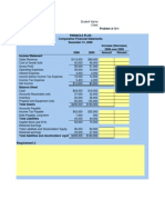 Excel Sheet for Horizontal Analysis