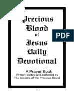 Precious Blood Devotional Prayer Book Complete