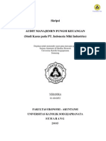 Skripsi Audit Manajemen Fungsi Keuangan
