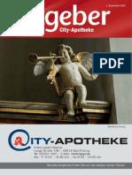 Ratgeber aus Ihrer City-Apotheke – Dezember 2013