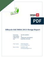 Design Report Team Lakshya SAE Efficycle