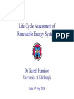 LCA of Renewable Enrgy Systems