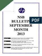 September 2013 Bulletin