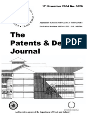 The Patents & Designs Journal: 17 November 2004 No  6026