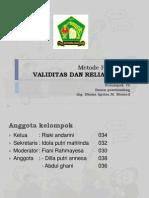 VALIDITAS & REALIBILITAS.KLMPK