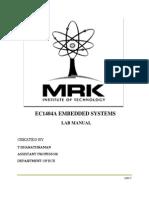 Emb Lab Manual