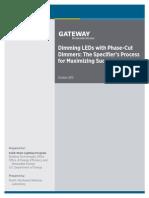 2013 Gateway Dimming
