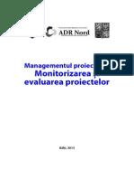 Monitorizarea și evaluarea proiectelor / broșură ADR Nord