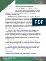 IPSF World AIDS Day Essay Contest