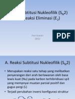 Reaksi Subtitusi Nukleofilik (SN2) Dan Reaksi
