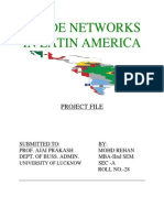 Trade Networks in Latin America