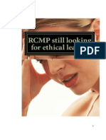 RCMP Still Looking for Ethical Leader!