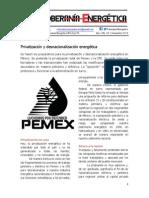 23.- Privatización Energética